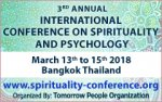 ICSP 2018 - 3rd Annual International Conference on Spirituality and Psychology