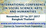 ICSSAH 2017 - International Conference on Social Sciences, Arts and Humanities 2017