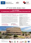 ICSD 2018  6th International Conference on Sustainable Development, 12 - 13 September 2018 Rome, It