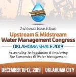 2nd Annual Scoop  Stack Upstream  Midstream Water Management Congress 2019