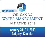3rd Annual Oil Sands Water Management Initiative 2013