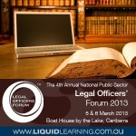 The 4th Annual National Public Sector Legal Officers Forum 2013