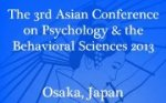 Asian Conference on Psychology and the Behavioral Sciences 2013