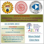 AICTE Sponsored International Conference on Advanced Information Communication Technologies in Engin