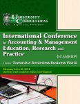INTERNATIONAL CONFERENCE IN ACCOUNTING & MANAGEMENT EDUCATION, RESEARCH AND PRACTICE