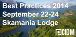 CIDM Best Practices Conference 2014